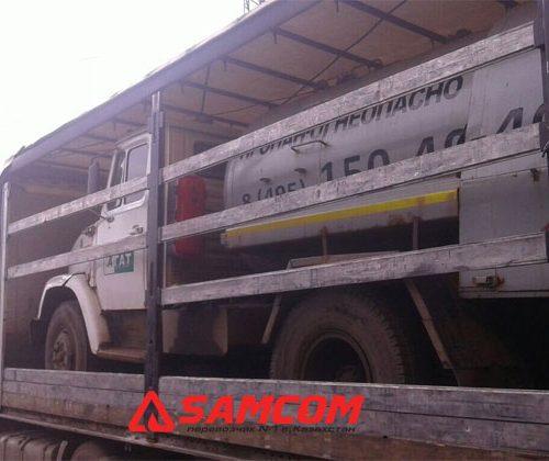 Перевозка газовоза — заправщика ЗИЛ в Казахстан
