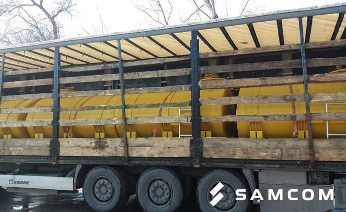 Перевозка стеклопластиковых ёмкостей из России в Казахстан